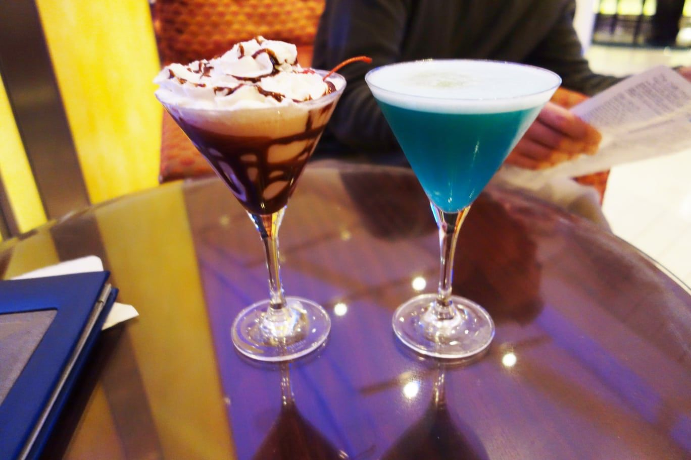 drinks at Martini Bar on Celebrity Solstice