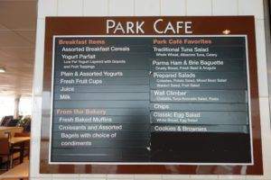 Park Cafe Menu Board Enchantment of the Seas Review