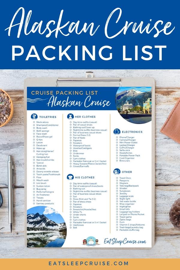 Packing List Pin_Alaskan Cruise