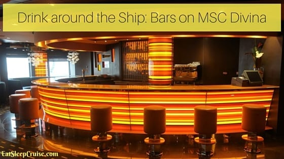 Bars on MSC Divina – Drink Around the Ship