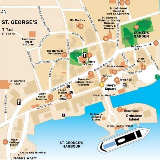 St George Bermuda Map