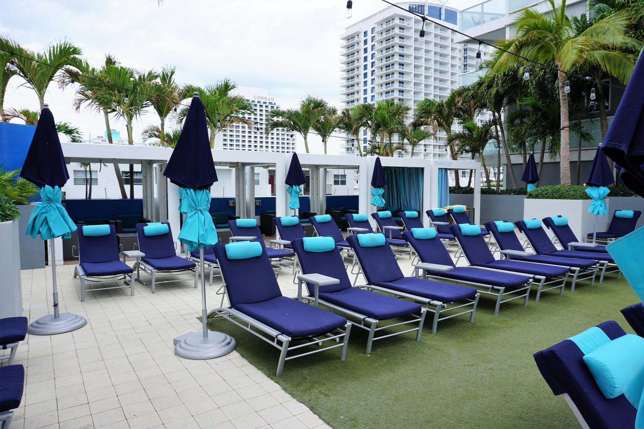 Relaxing Poolside
