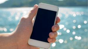 smartphone at sea