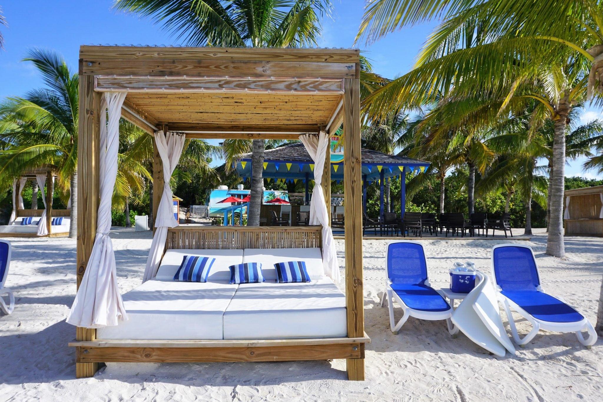 Beach Beds on Cococay Bahamas