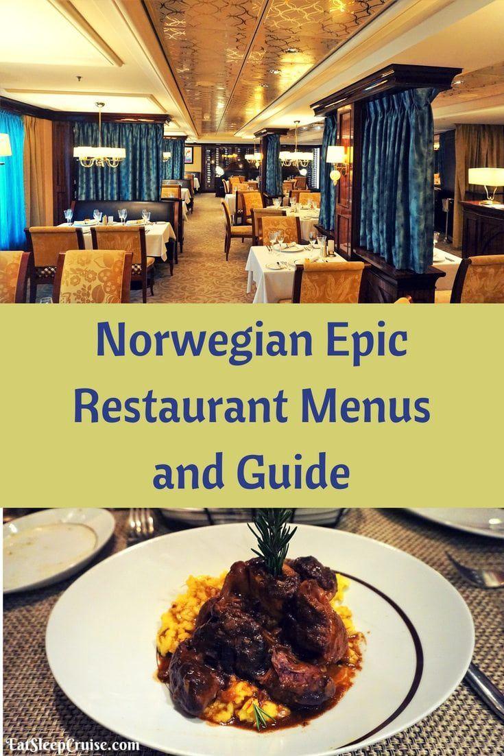 Norwegian Epic Restaurant Menus and Guide