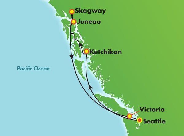 Norwegian Bliss Alaska Cruise Review Itinerary