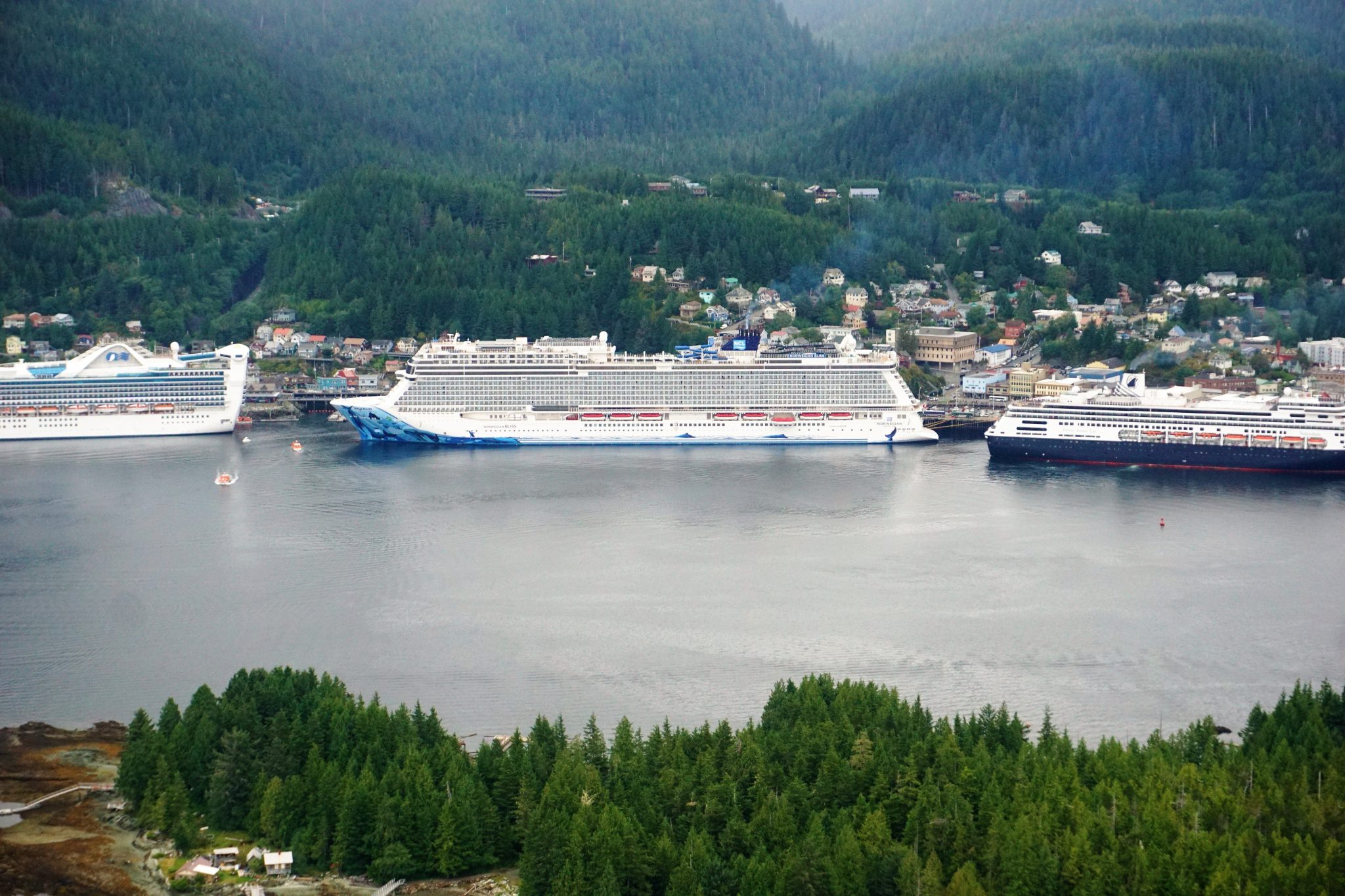 Norwegian Bliss Docked in Ketchkian Alaska