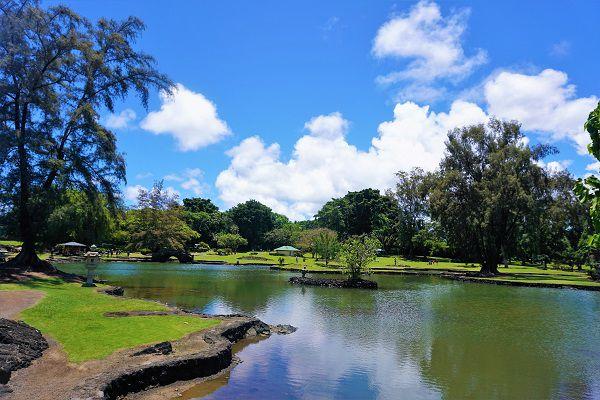 Queen Park in Hilo