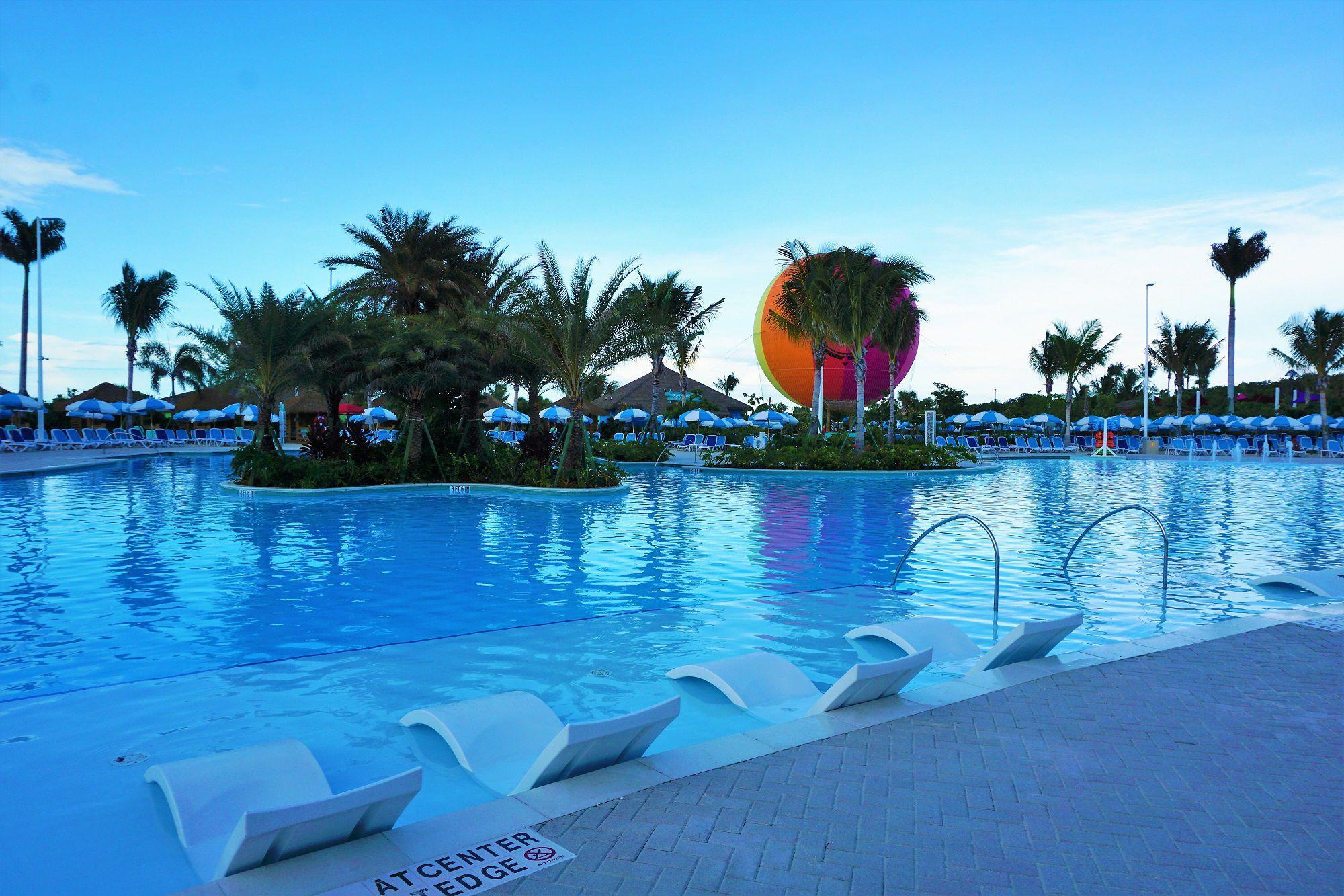 Oasis Lagoon Pool at Dusk Perfect Day at CocoCay