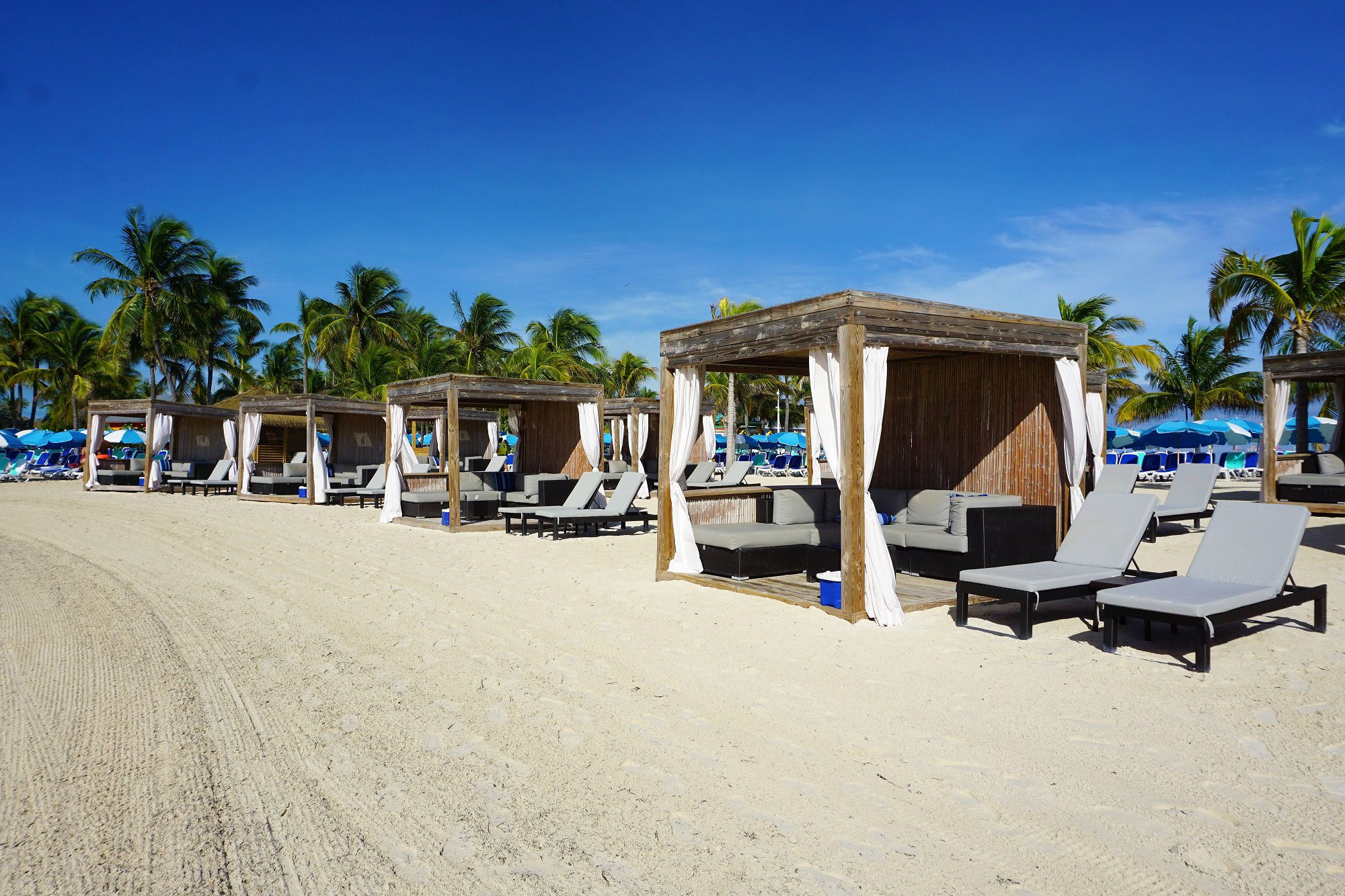 Beach Bungalows on Perfect Day at CocoCay