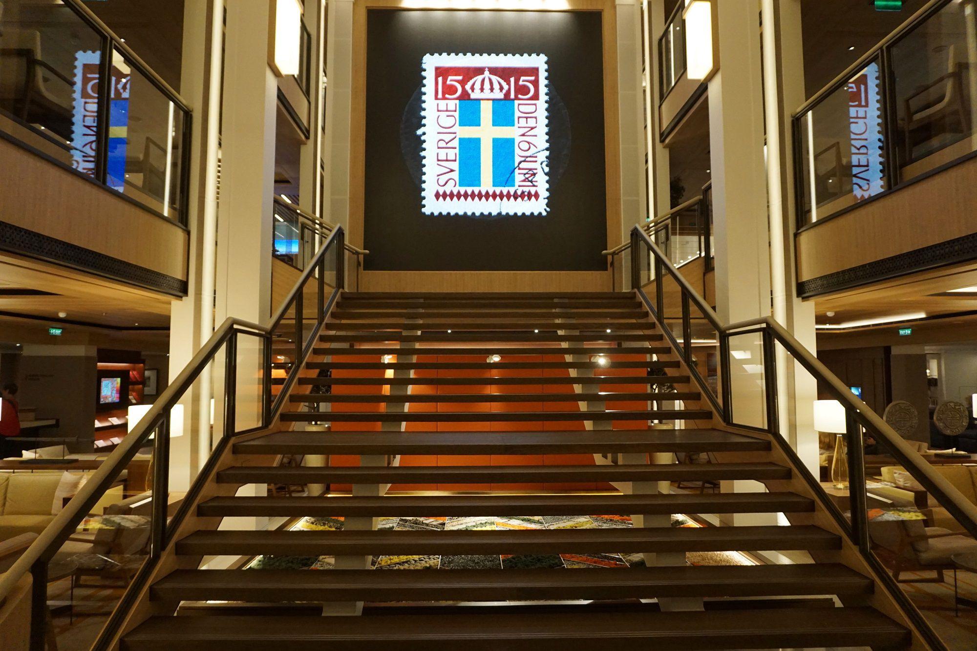 Atrium Staircase on Viking Jupiter