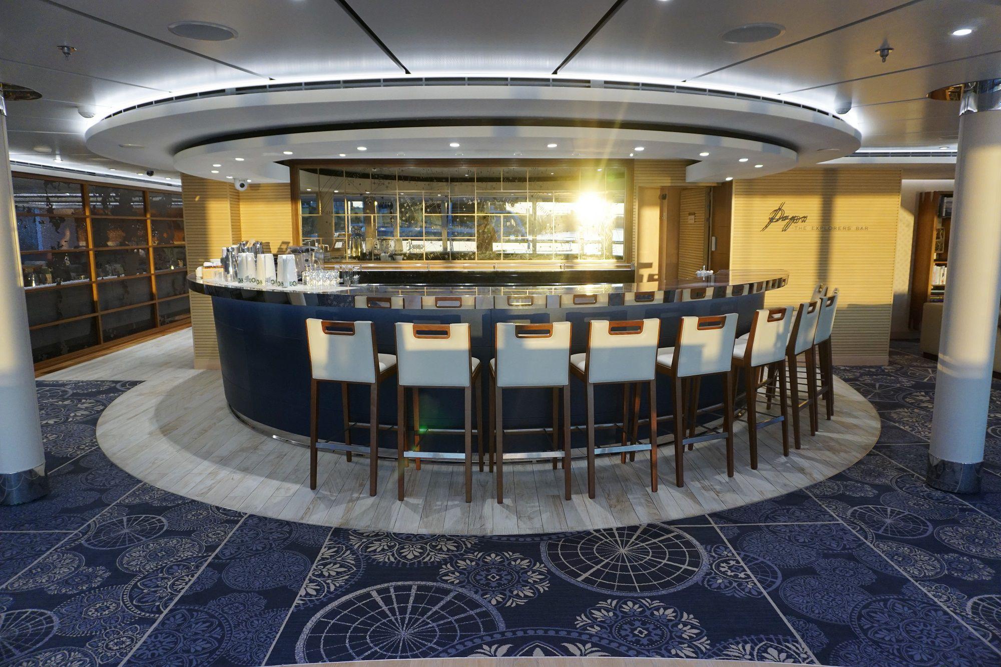 Explorers Lounge Bar on Viking Jupiter