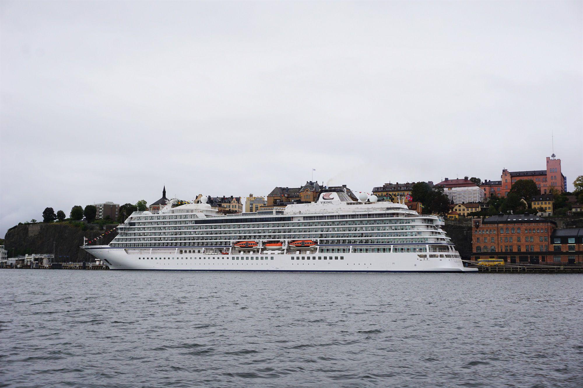 Viking Jupiter Docked in Stockholm
