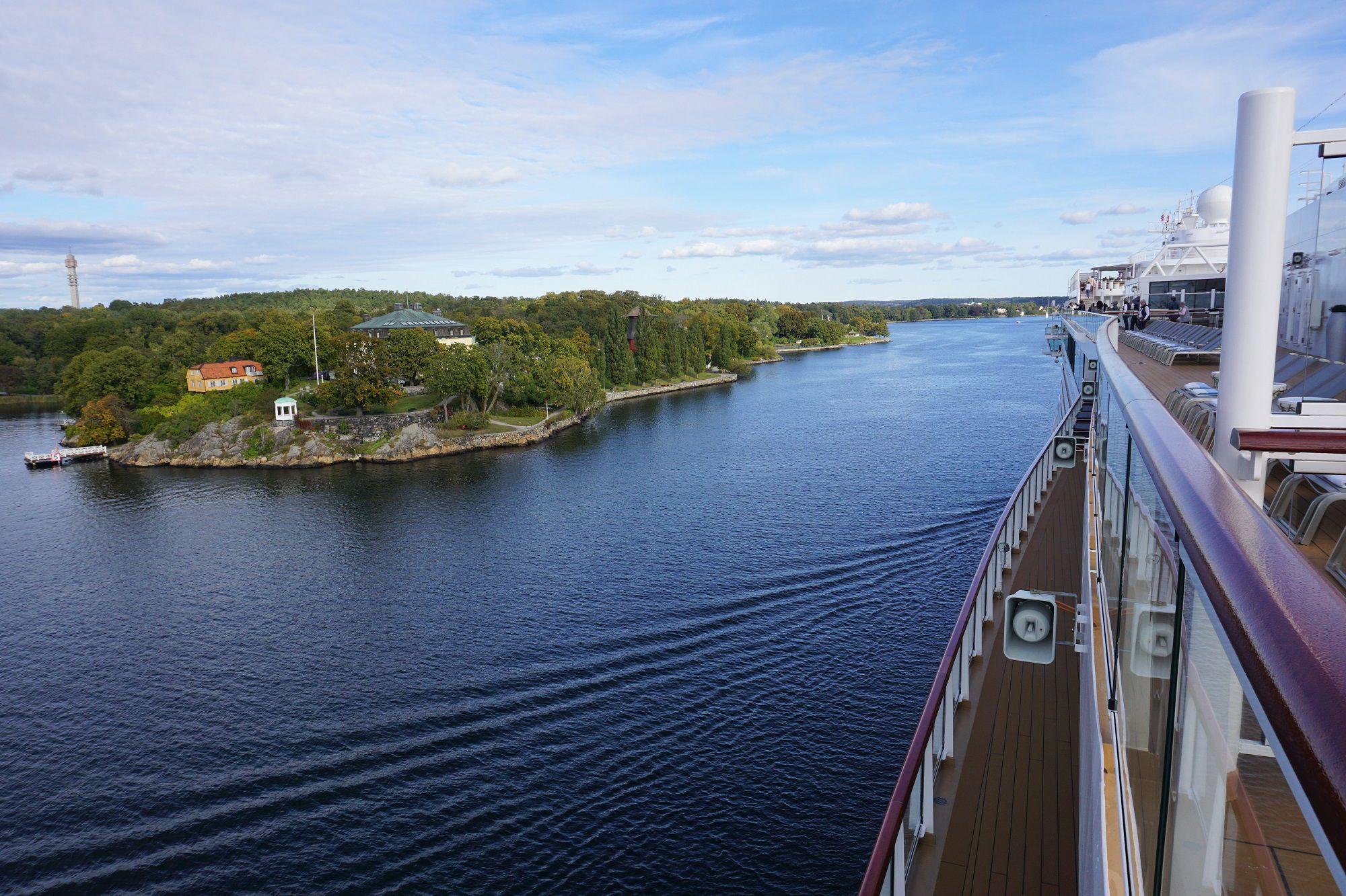 Viking Jupiter Sail Away from Stockholm Sweden