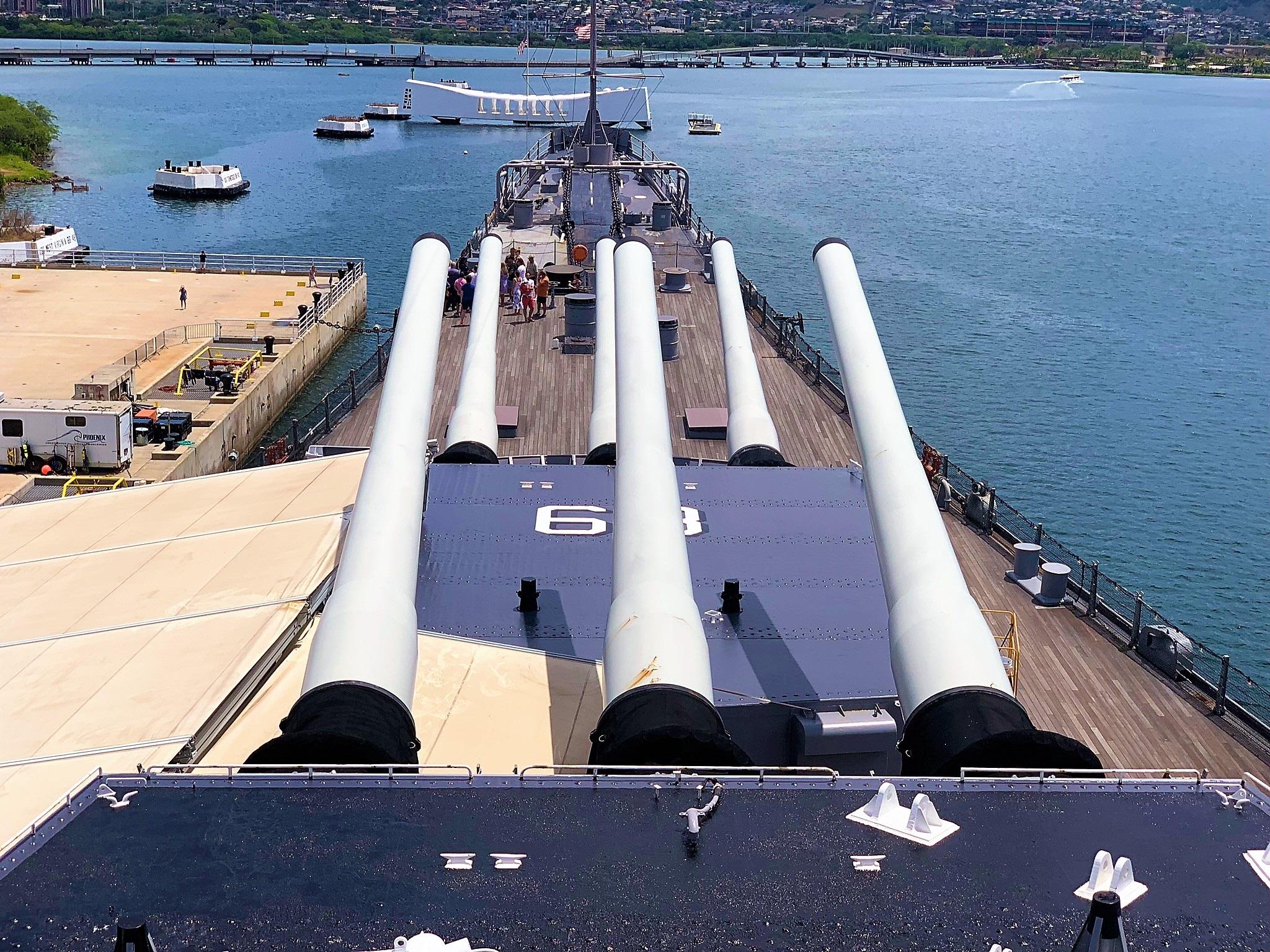USS Missouri in Pearl Harbor Honolulu Hawaii