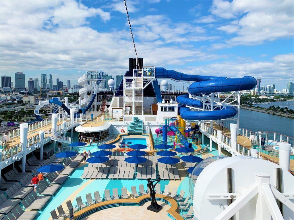 Pool Deck of Norwegian Encore - Norwegian Cruise Line Drink Packages