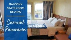 Carnival Panorama Balcony Cabin Review