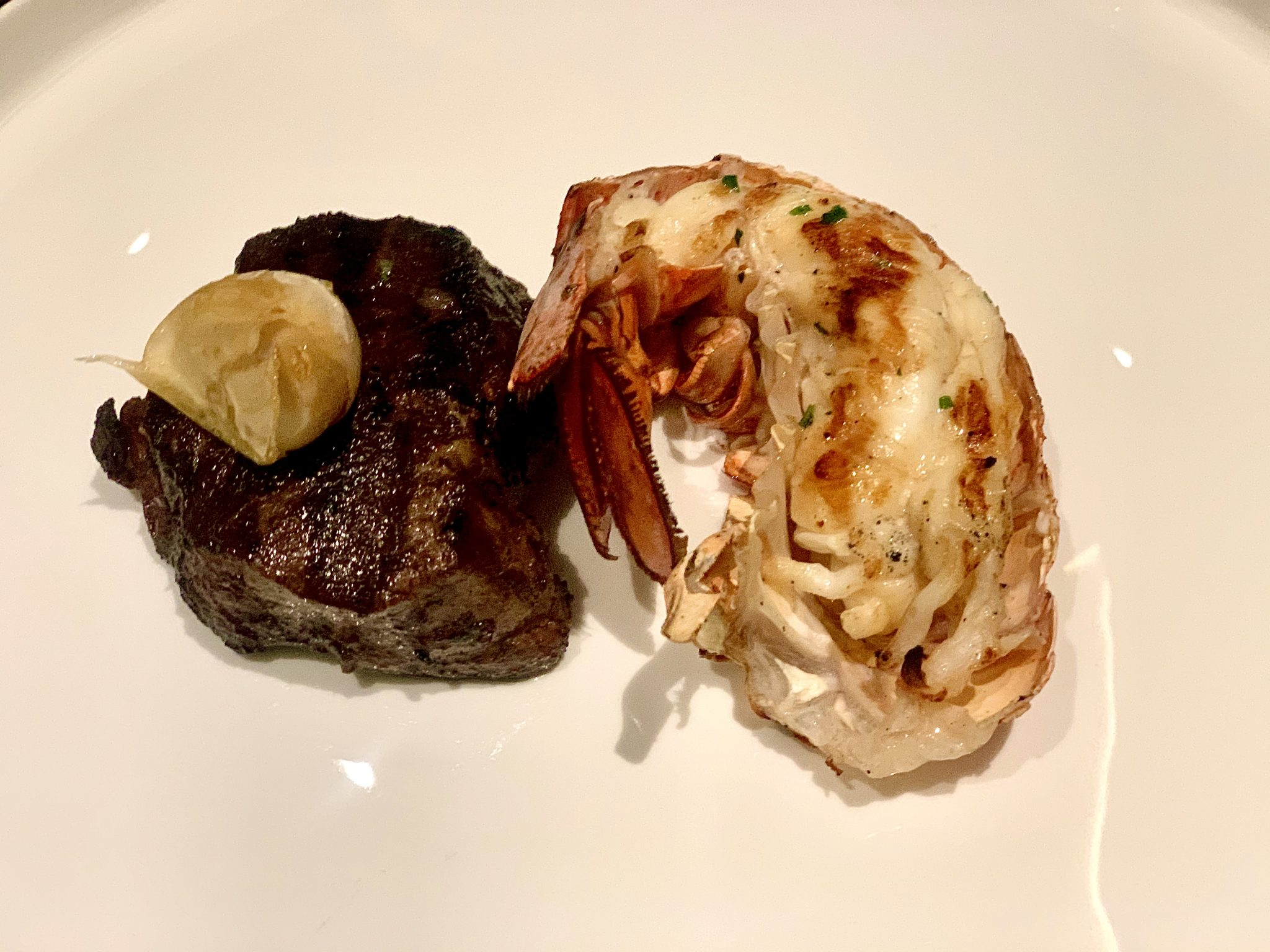 Surf and Turf at Fahrenheit 555 on Carnival Panorama