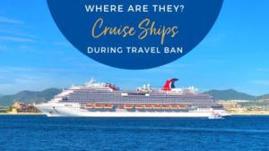 Cruise Ships Location During Travel Ban