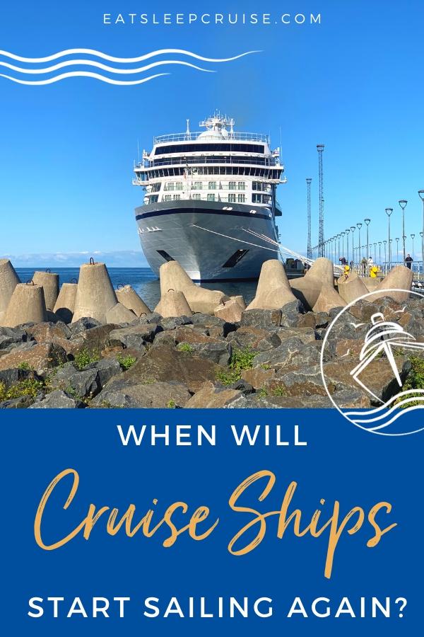 When will cruises start sailing again