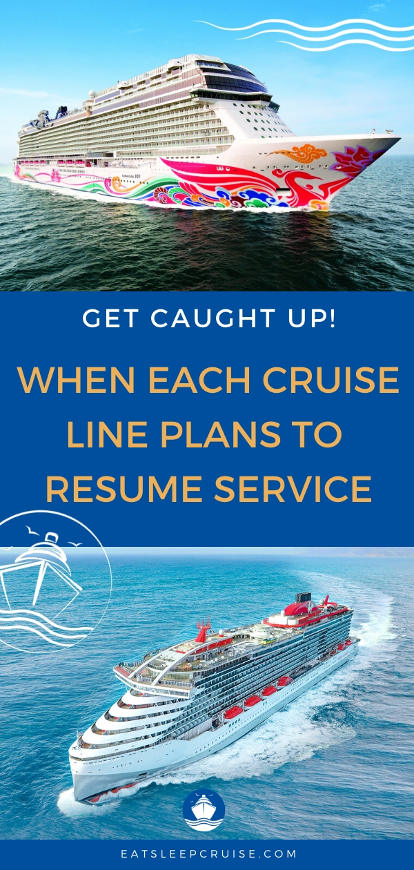 When Major Cruise Lines are Expected to Resume Service