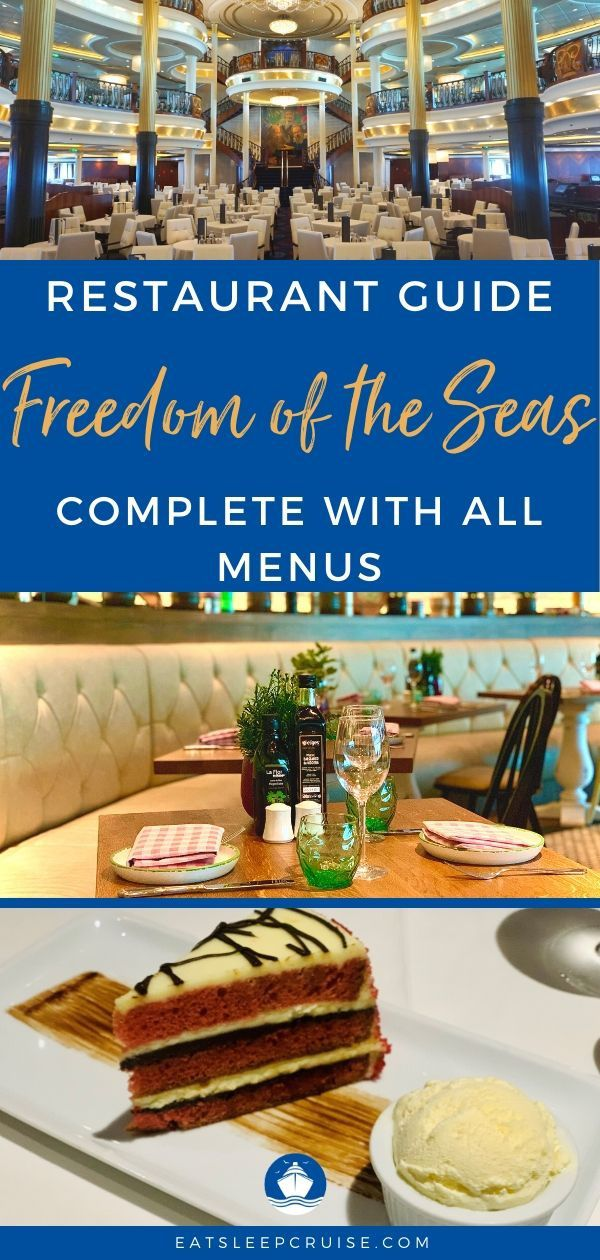 Newly Amplified Freedom of the Seas Restaurant Menus