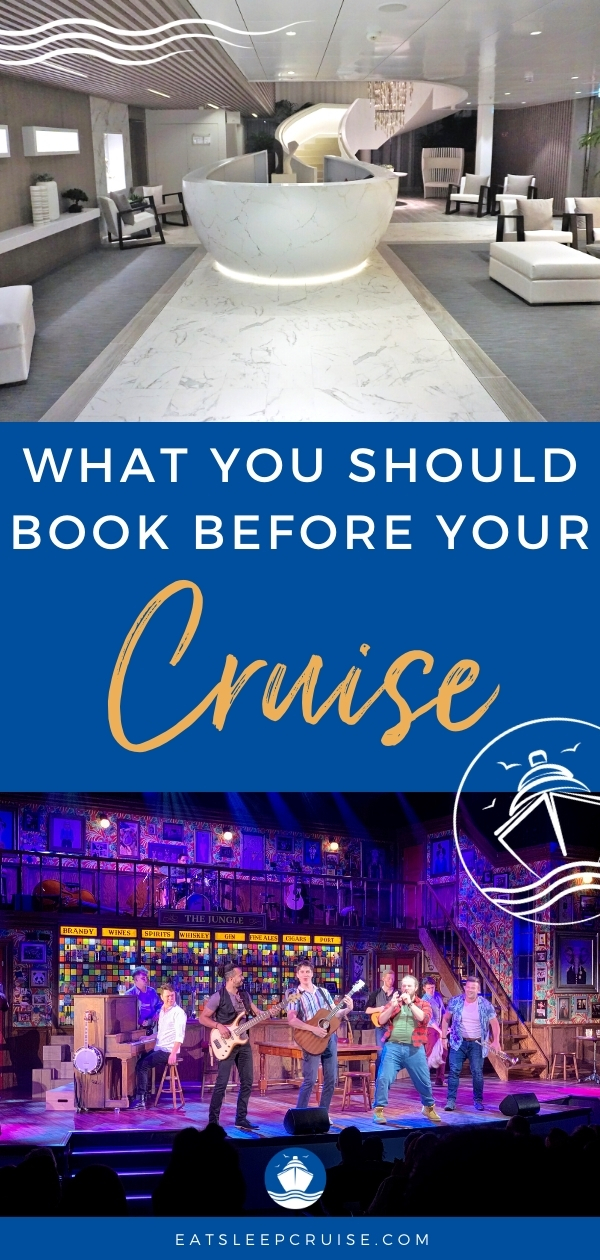 book before your cruise