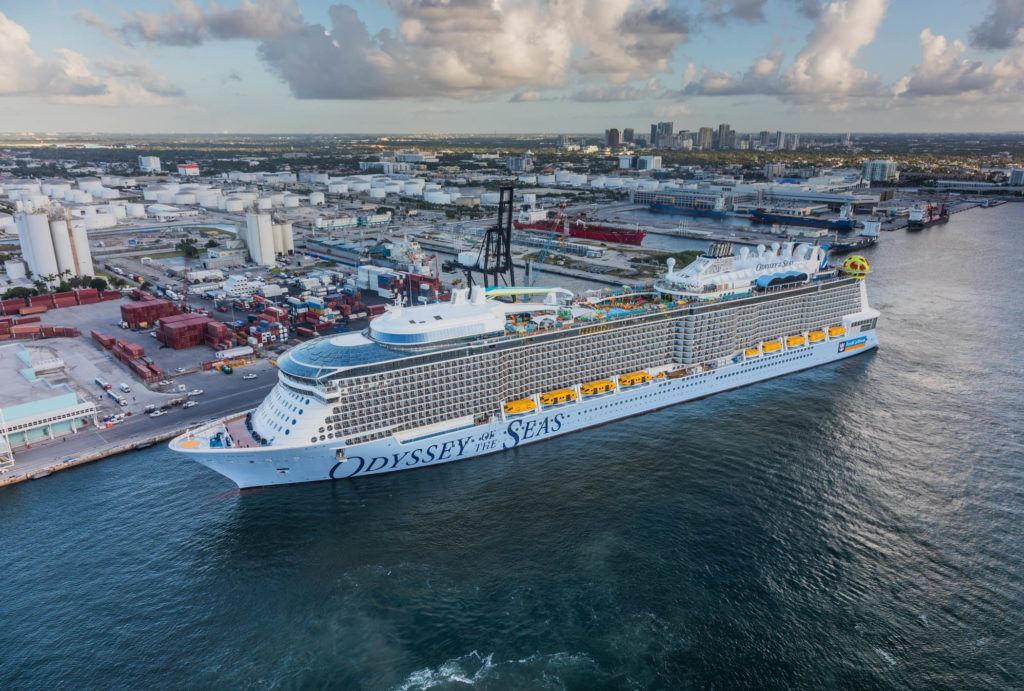 Odyssey of the Seas Arrives in Port Everglades  - Odyssey of the Seas inaugural postponed
