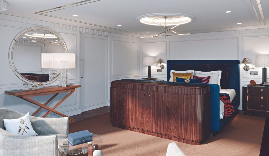 Oceania's new ship, Vista, will be styled with Ralph Lauren Home including the Library and the Owner's Suites.