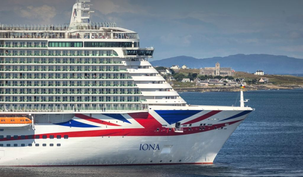 P&O Cruises Iona Sails Maiden Voyage