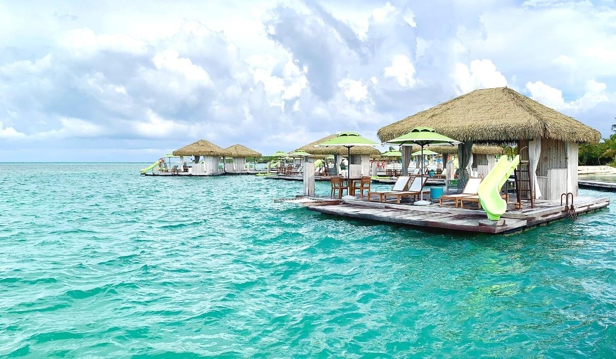 A Day at Royal Caribbean's Coco Beach Club Floating Cabanas