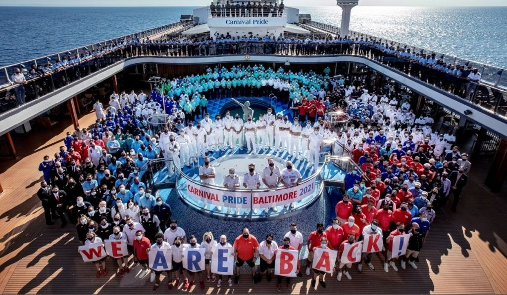 Carnival Pride First Ship to Cruise From Port of Baltimore