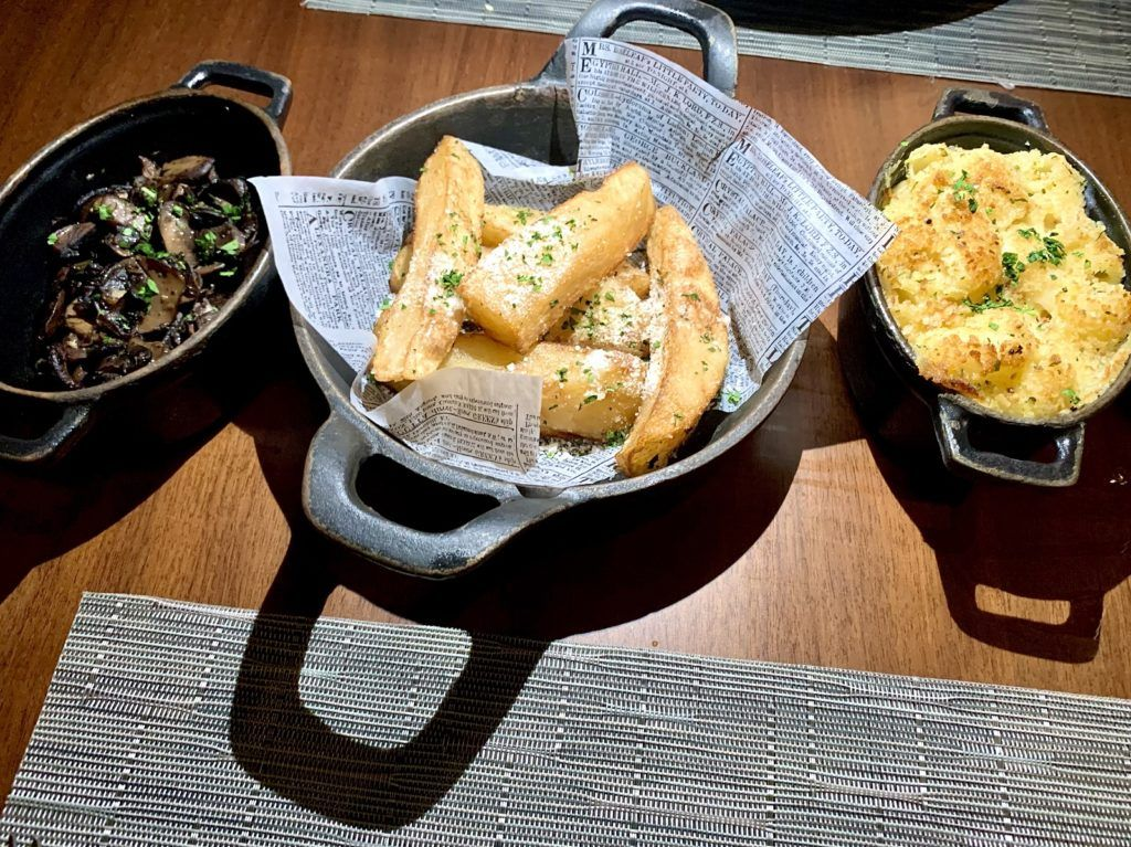 Side Dishes at Celebrity Edge Steak House
