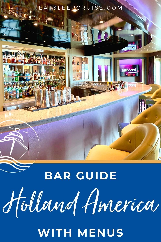 holland america bar guide